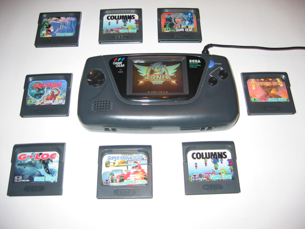game gear colors : Sega Gamegear With Some Games